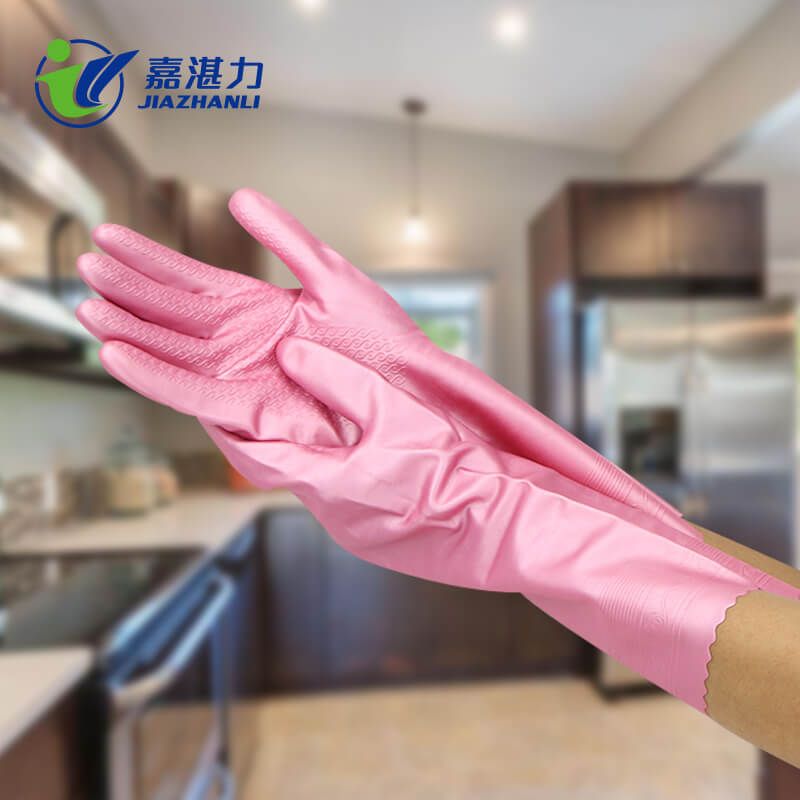 Comfortable Kitchen Cleaning Household  Latex Gloves