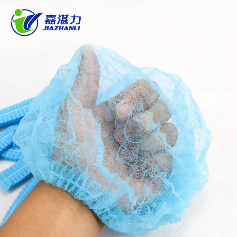 Disposable Non Woven Strip Clip Surgical Hat Doctor Round Mob Cap