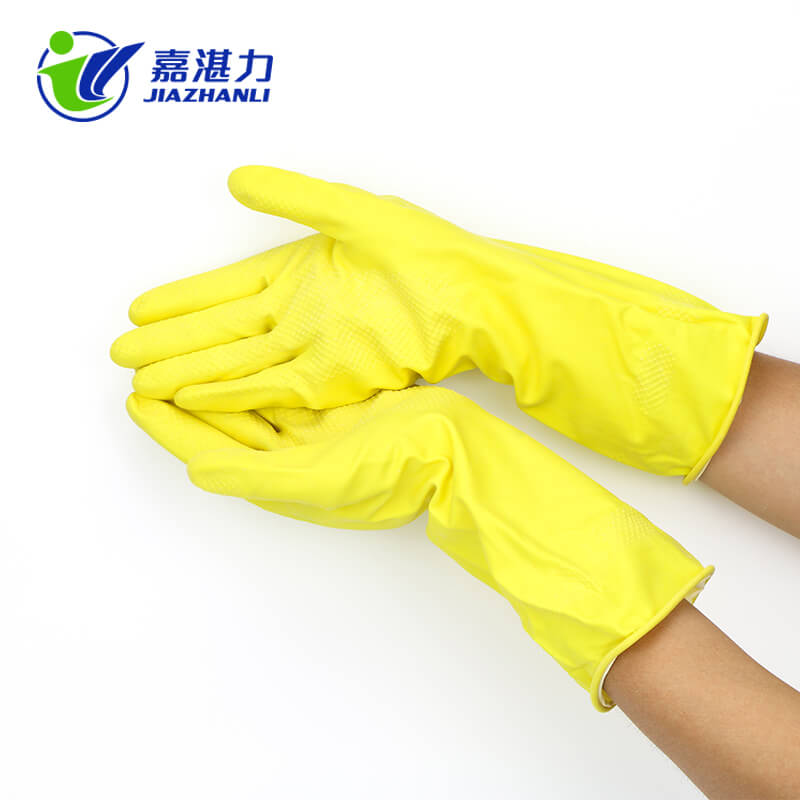 Natural Waterproof Latex Household Cleaning Working Rubber Gloves