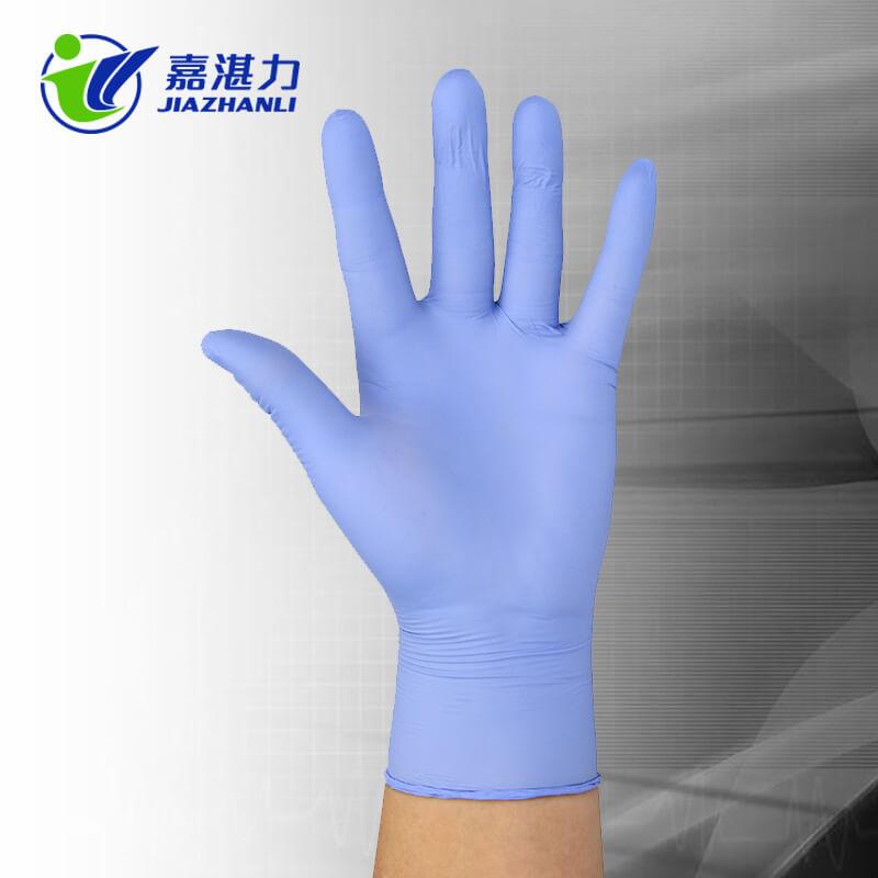 Colored Bulk Purple Nitrile Medical Gloves