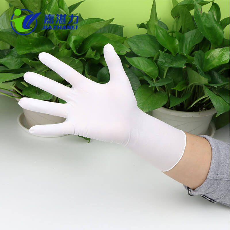 Factory Outlet Disposable Powder Free White Nitrile Gloves