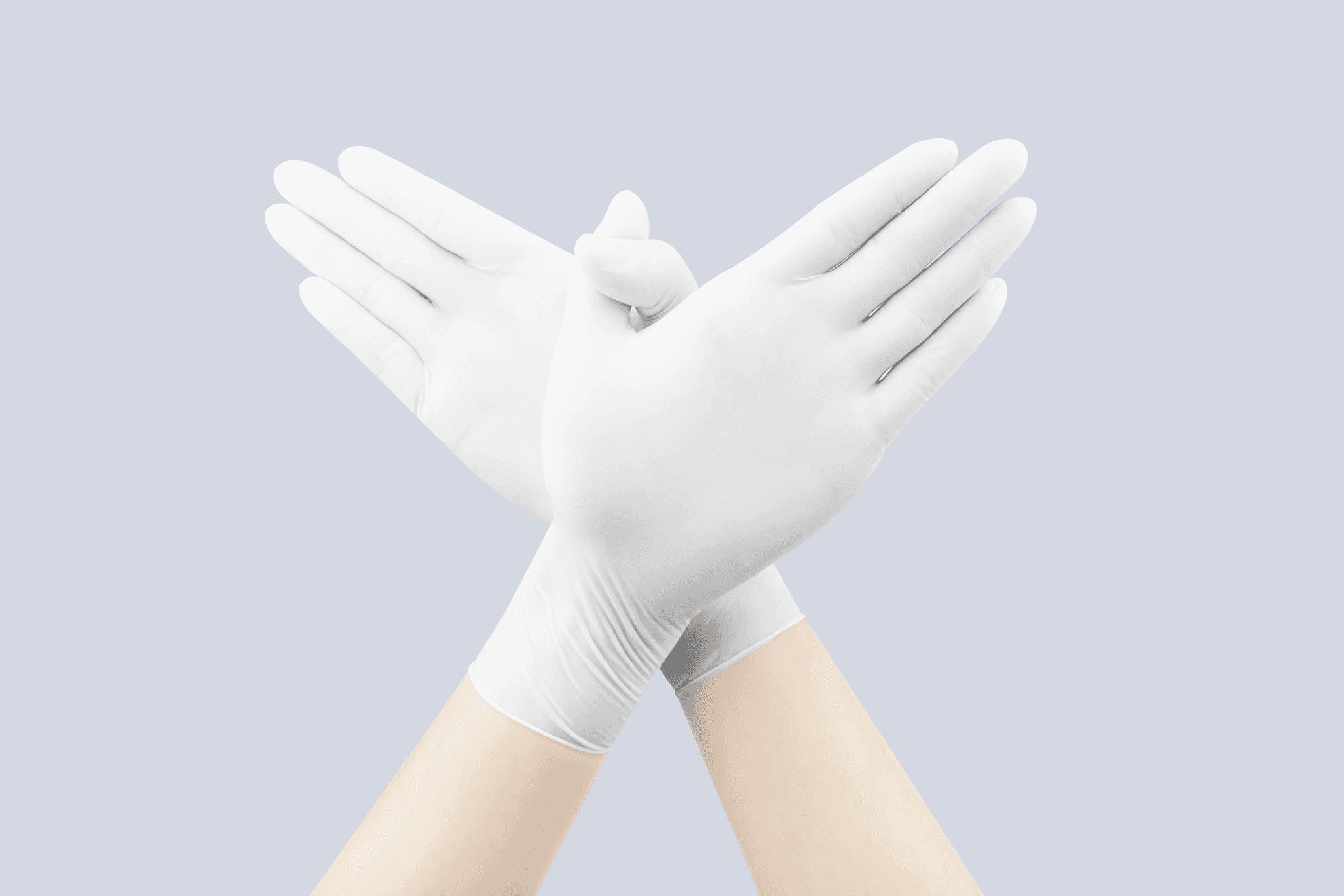 Disposable Examination Latex Gloves Powdered
